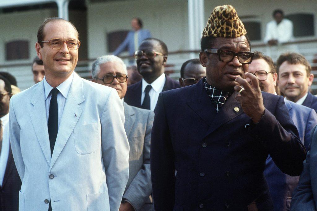 Jacques Chirac et Mobutu, en 1995.
