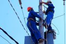 Des électriciens de la Jirama.