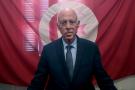 Kaïs Saïed à son quartier général à Tunis, mardi 17 septembre 2019 après la proclamation officielle des résultats le donnant en tête du premier tour de l'élection présidentielle.