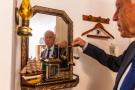 Kaïs Saïed dans son bureau privé – un ancien cellier – , où il a reçu JA en exclusivité, le 18 septembre.