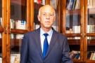 Kaïs Saïed dans son bureau du quartier Ennasr à Tunis, mercredi 18 septembre 2019.