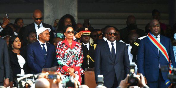 Le 24janvier, à Kinshasa, lors de la passation de pouvoir entre Joseph Kabila et Félix Tshisekedi.