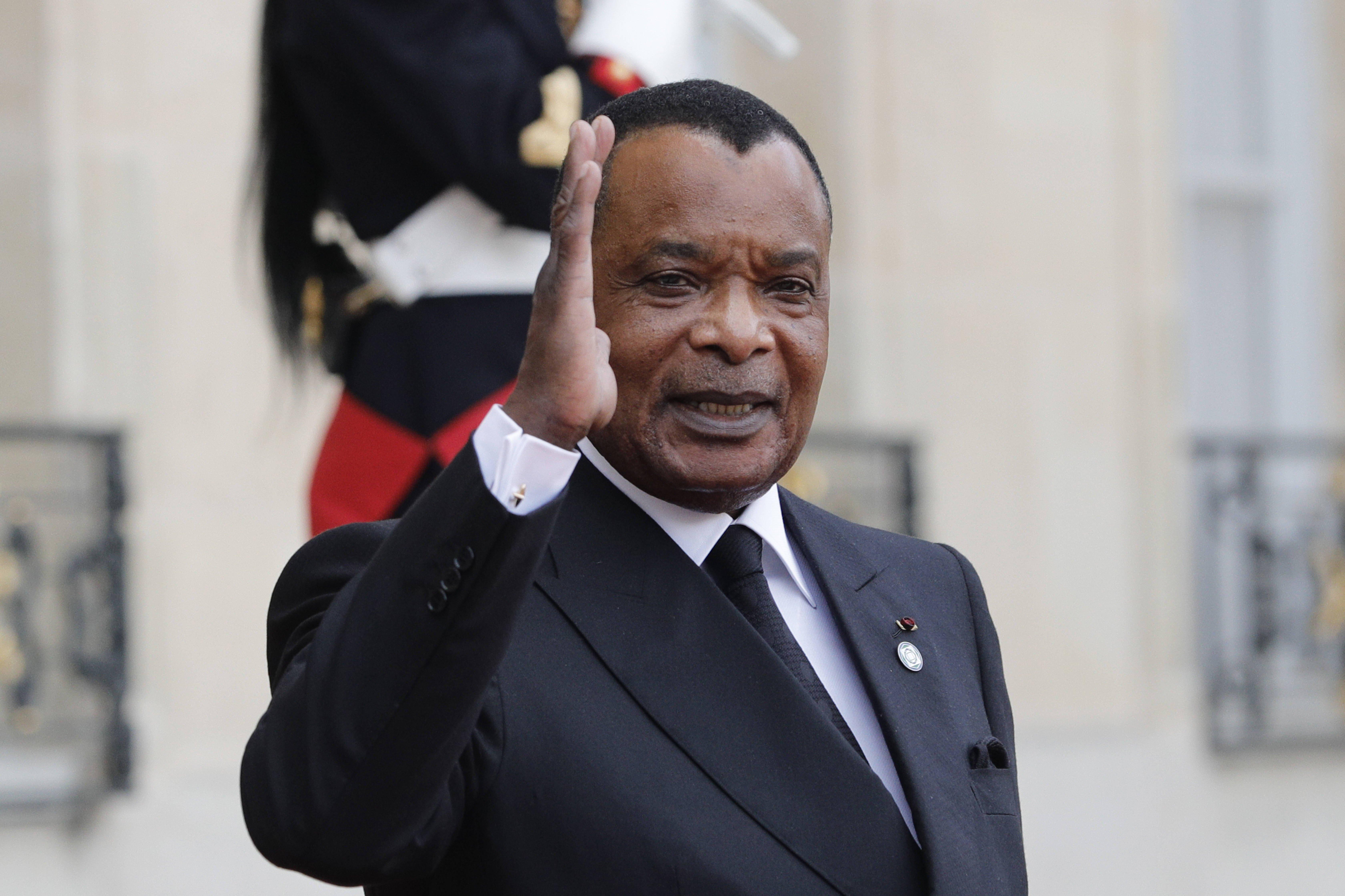Le président congolais Denis Sassou Nguesso, à l'Élysée le 30 septembre 2019 lors de l'hommage à l'ancien président français Jacques Chirac.