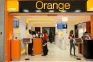 Boutique Orange dans le centre commercial le Playce-Marcory, à Abidjan.