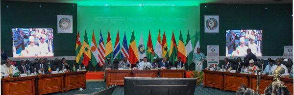 Salle de la conférence extraordinaire des chefs d'états de la CEDEAO qui s'est tenue le 14/09/2019, à Ouagadougou sur la lutte contre le terrorisme.