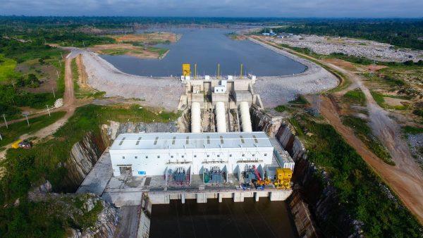Centrale hydroélectrique près de Soubré en Côte d'Ivoire.