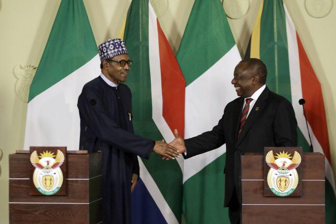 Afrique du Sud : Ramaphosa et Buhari veulent prévenir les violences xénophobes