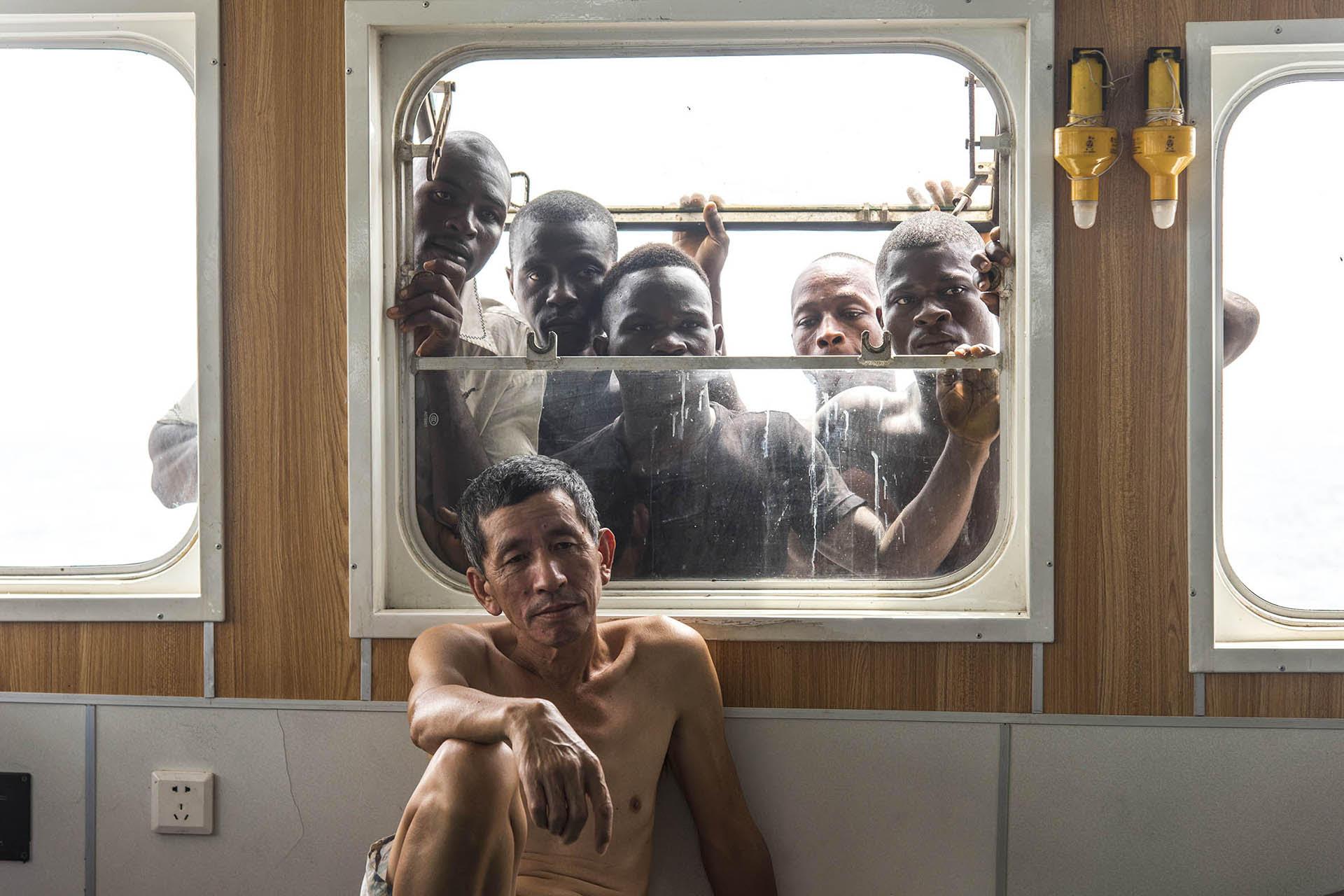 L'une des photographies de l'exposition « Filets obscurs » de Pierre Gleizes, présentée à la galerie Fait&Cause, à Paris, en 2019.