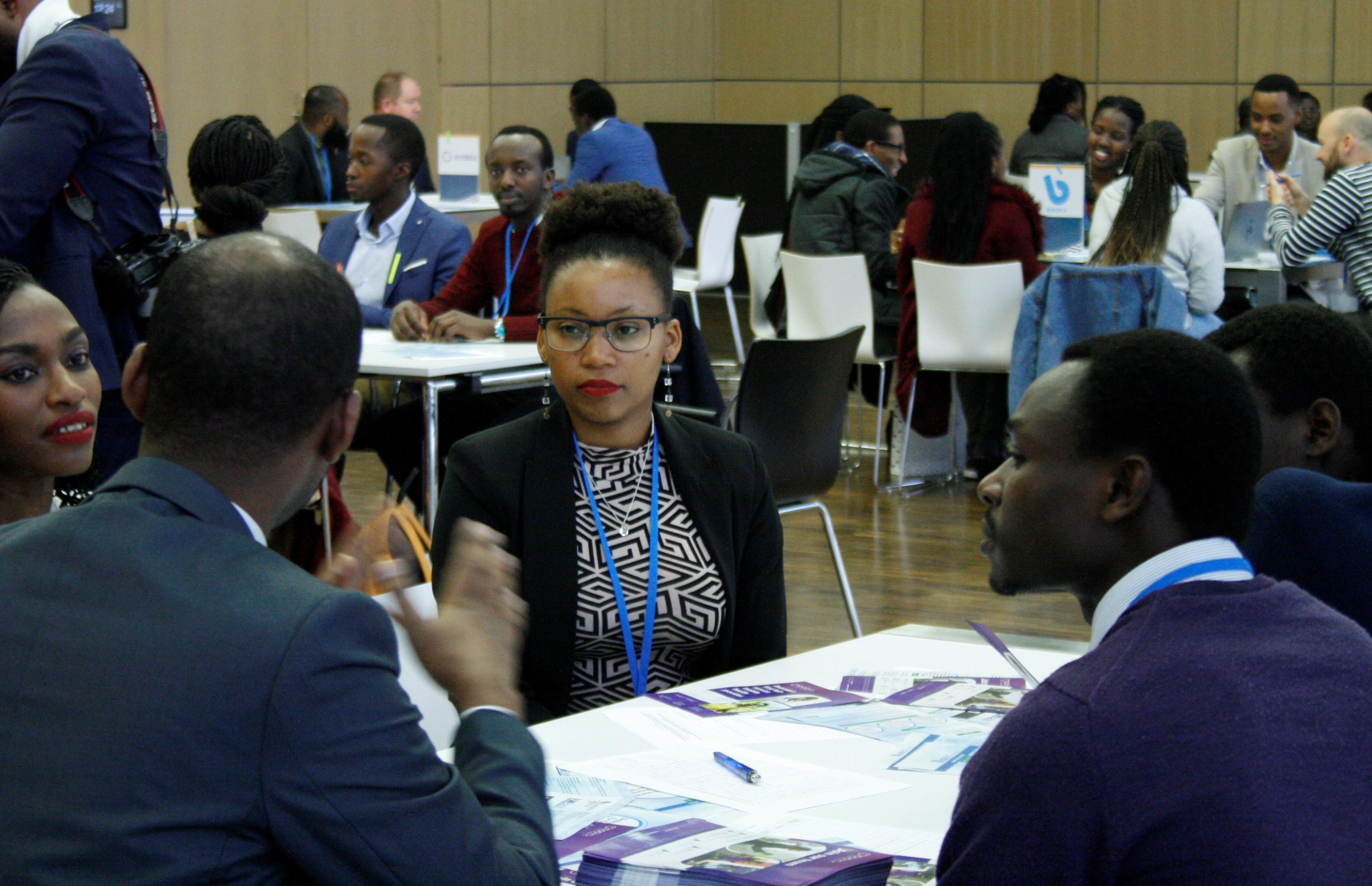 """Rencontres entre professionnels au cours de """"speed-dating"""", nouveauté de ce Rwanda Day 2019 (Bonn, Allemagne)"""