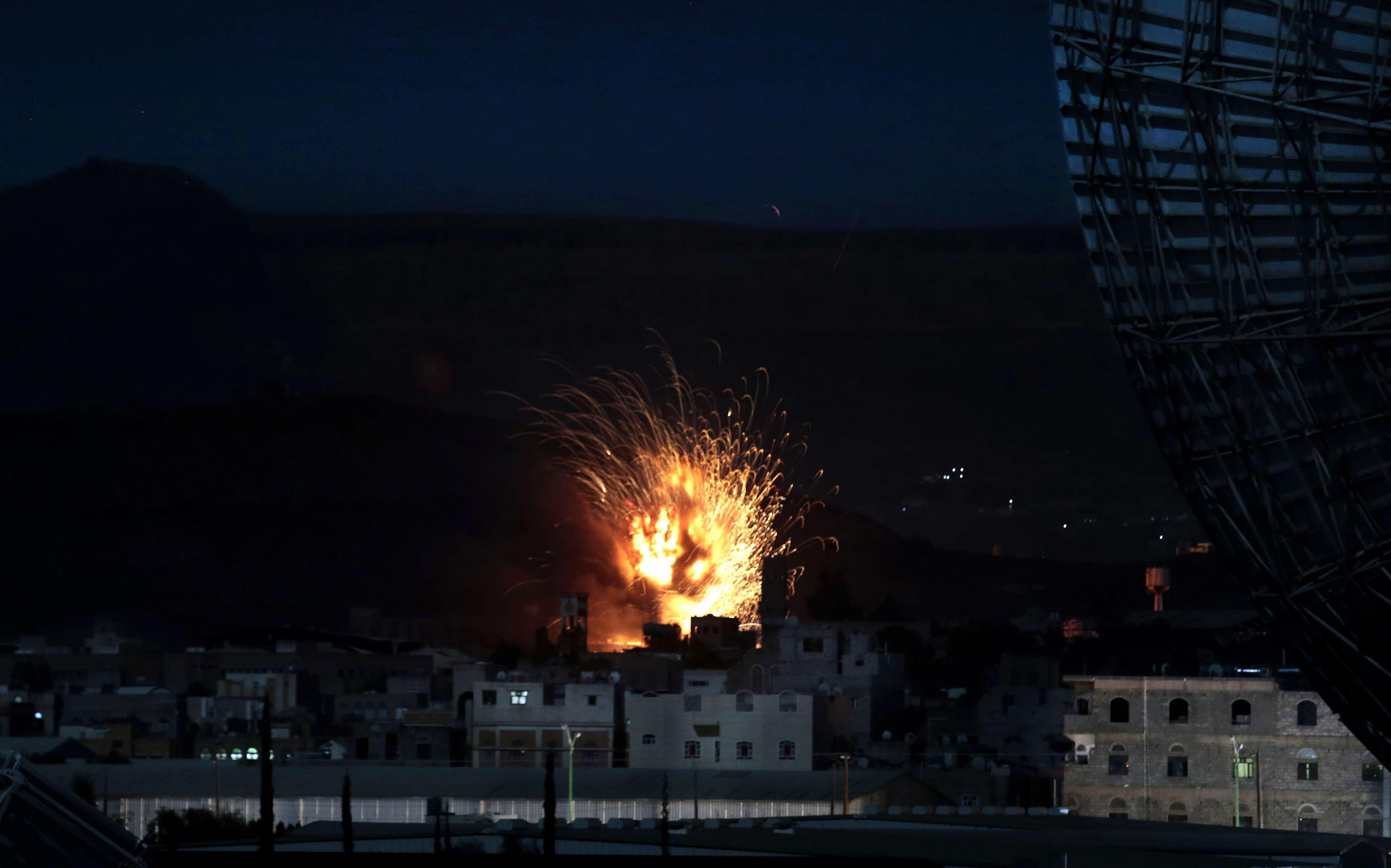 Un bombardement saoudien au Yémen, en janvier 2017 (image d'illustration).