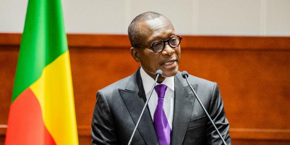 Le président béninois Patrice Talon, lors de l'ouverture duy dialogue politique, le 10 octobre 2019 à Cotonou.