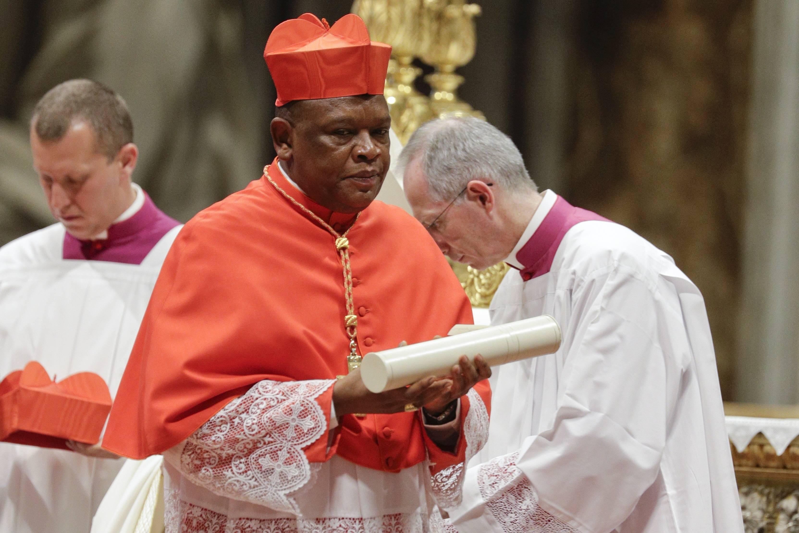 Le cardinal Fridolin Ambongo Besungu, le 5 octobre 2019 à Kinshasa.
