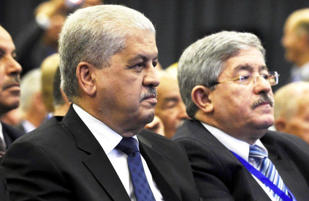 Les deux anciens Premiers ministres Abdelmalek Sellal (à g.) et Ahmed Ouyahia.