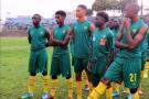 L'équipe du Cameroun des moins de 17 ans (avec notamment Étienne Eto'o, 3e en partant de la gauche).