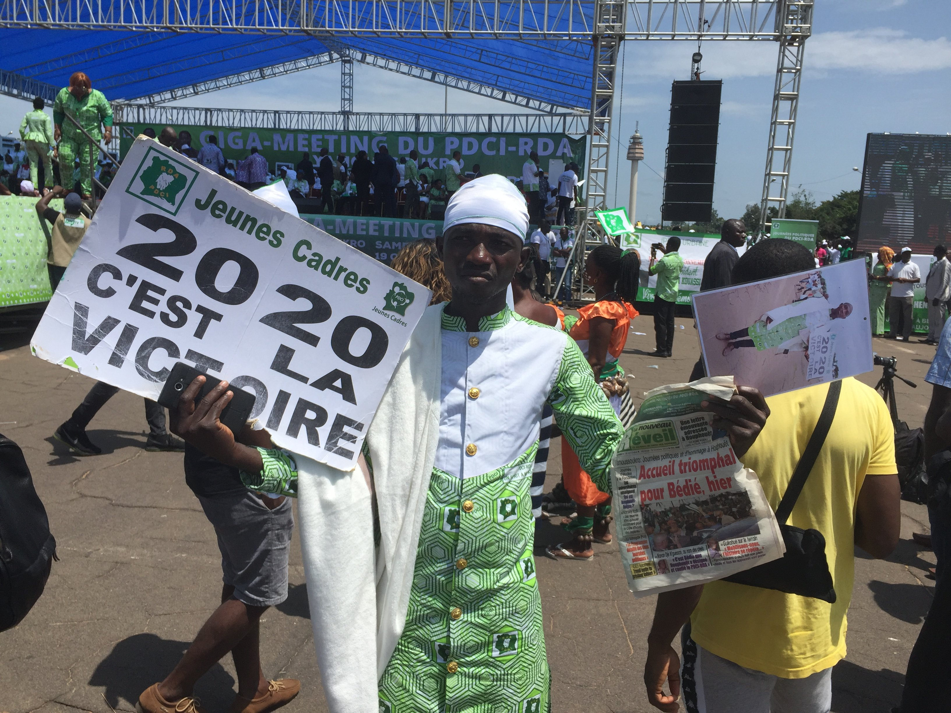 Un militant du PDCI, le 19 octobre à Yamoussoukro.