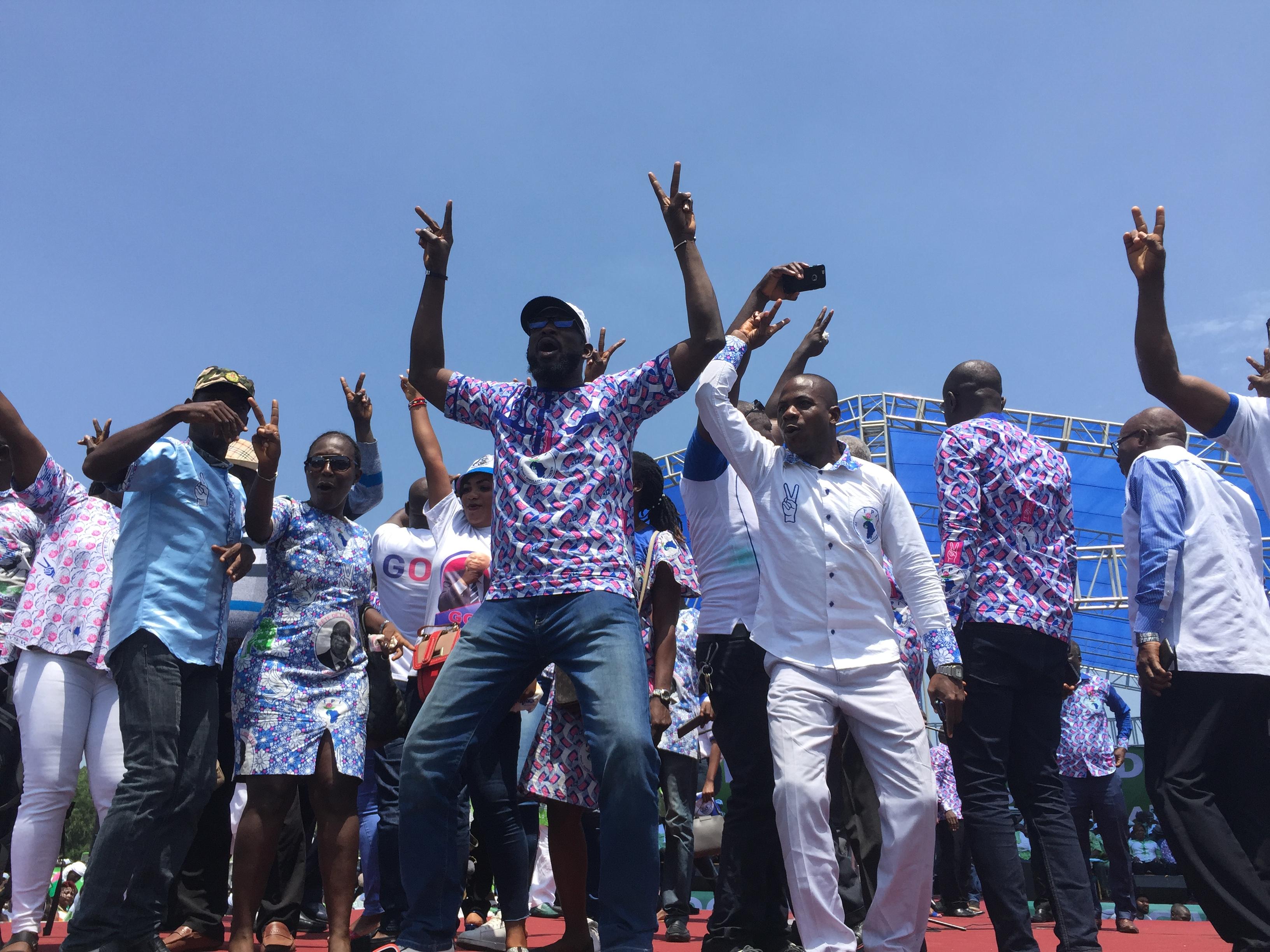 Des militants du FPI, le 19 octobre à Yamoussoukro.