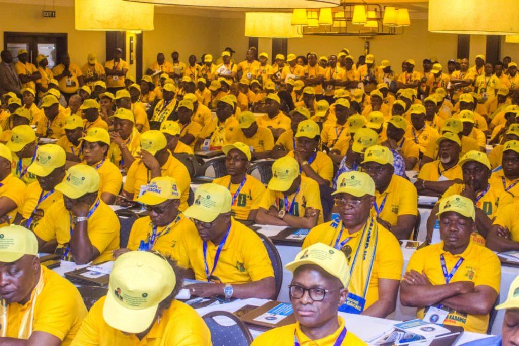 Lors de la rencontre du PPRD à Lubumbashi, le 22 octobre 2019.