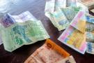 Billets de francs CFA d'Afrique de l'Ouest et d'Afrique centrale.