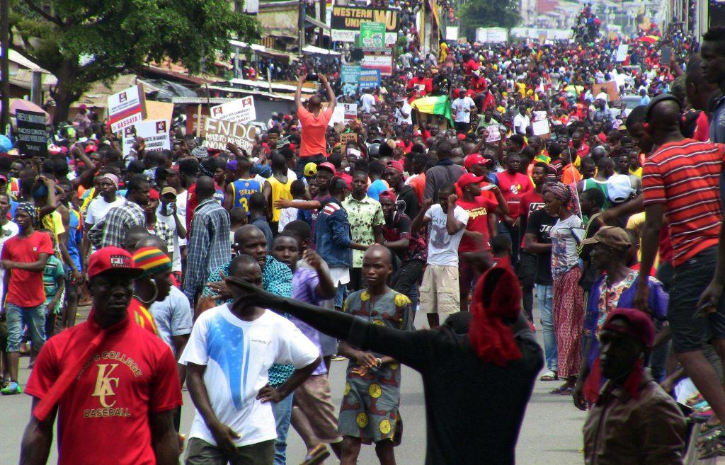 Manifestation des opposants à un troisième mandat d'Alpha Condé, le 24 octobre à Conakry (illustration).