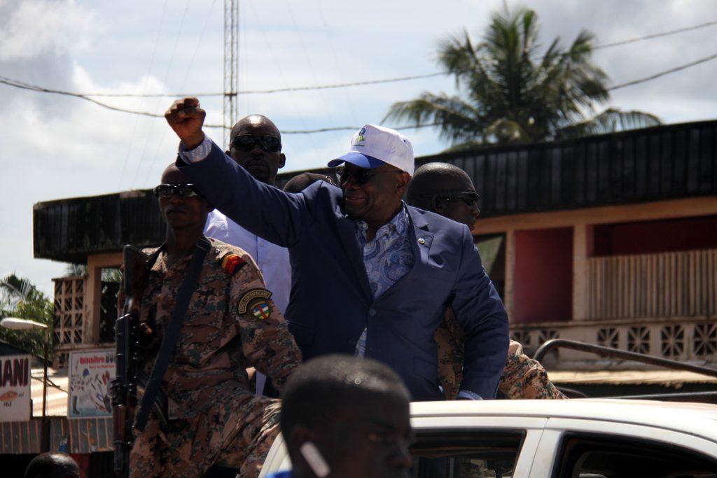 L'ncien président de l'Assemblée nationale, Karim Meckassoua, lors de son retour à Bangui, le 24 octobre 2019.