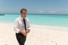 Emmanuel Macron en visite sur les îles Glorieuses, le 23 octobre