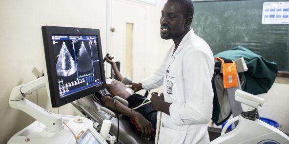 Le Dantec Centre hospitalier national Aristide Le Dantec à Dakar, Sénégal, le 11 septembre 2019.© Sylvain Cherkaoui pour JA