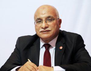 Abdelkrim HarouniLe président du conseil de la Choura a fondé le syndicat étudiant UGTE, où Ennahdha a formé ses cadres. Ancien député constituant à Tunis, il fut ministre du Transport de 2011 à 2014.