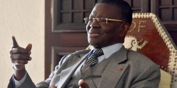 Laurent Dona Fologo, ancien ministre de Félix Houphouët-Boigny, en 2017 à Abidjan.
