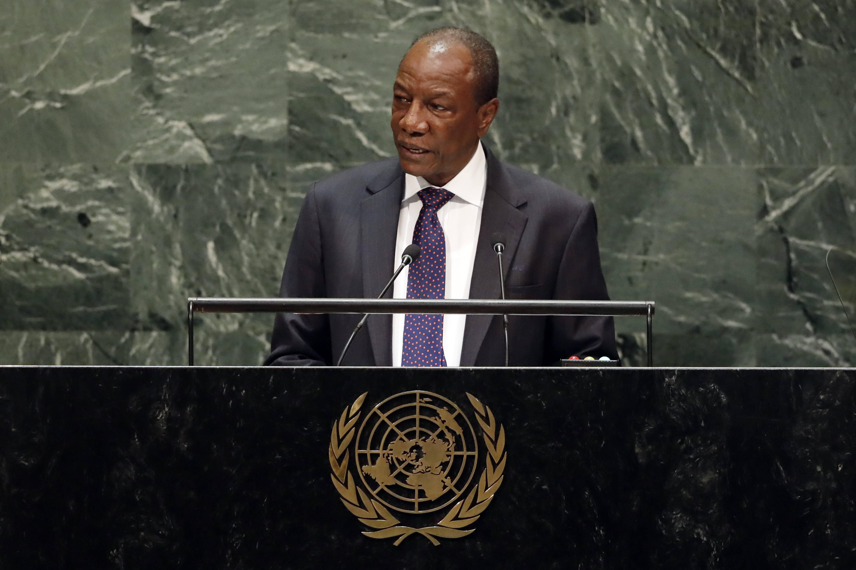 Alpha Condé lors de l'Assemblée générale des Nations unies, le 25 septembre 2019.