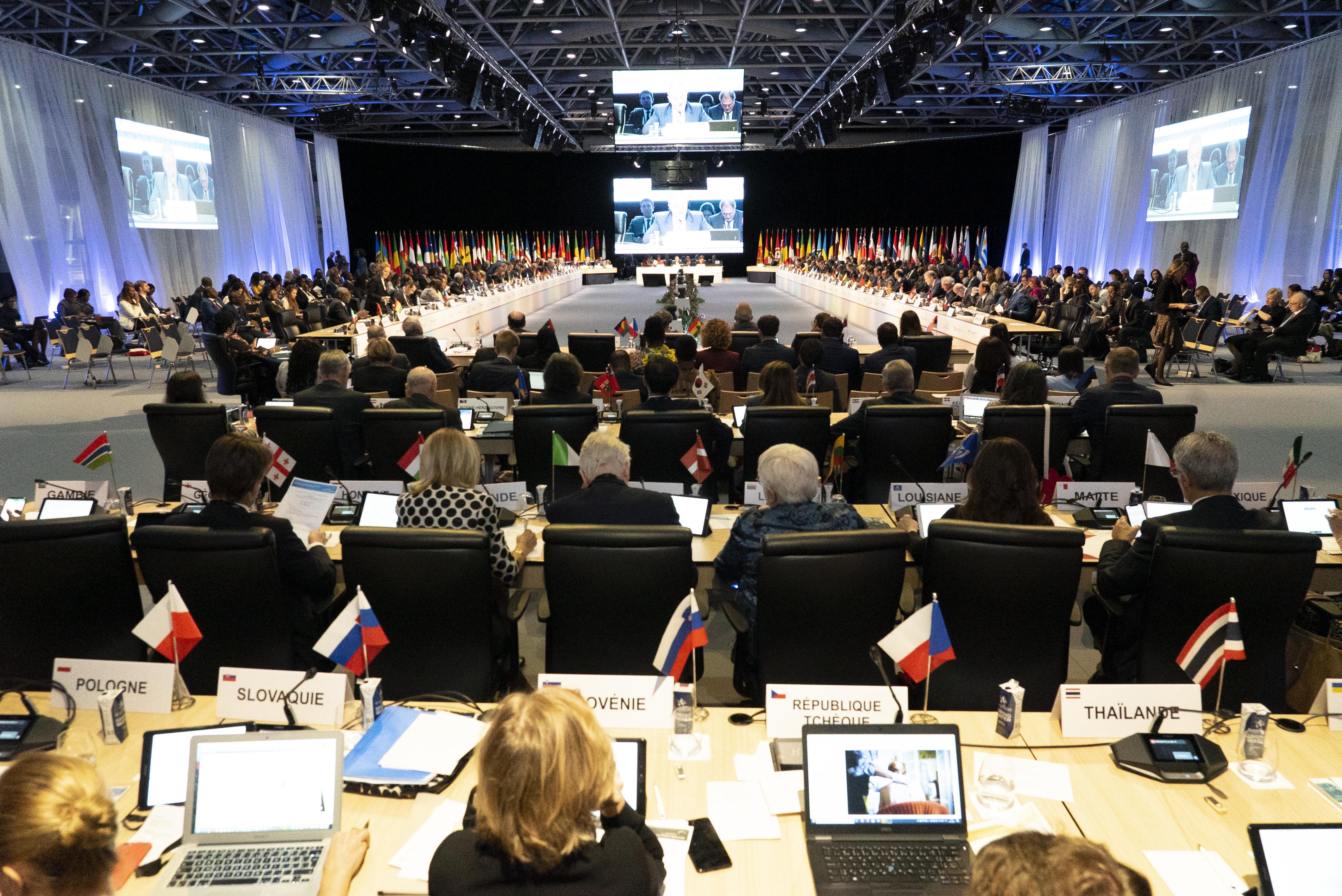 La 36e conférence interministérielle de la Francophonie, le 30 octobre à Monaco.