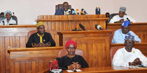 """Louis Vlavonou, président du Parlement, a salué """"une nouvelle page de l'histoire"""" du Bénin"""