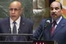 L'actuel président mauritanien Mohamed Ould Ghazouani (à gauche) et son prédécesseur Mohamed Ould Abdelaziz.