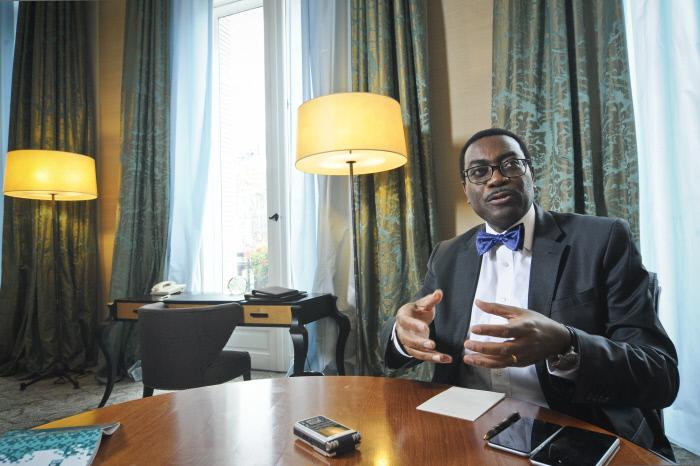 Akinwumi Adesina en 2015 à Paris.