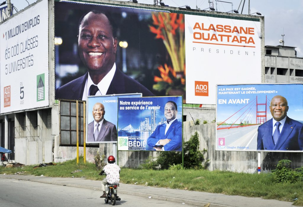 Alassane Ouattara, 77ans, Henri Konan Bédié, 85ans, et Laurent Gbagbo, 74ans, n'excluent pas de se présenter à nouveau en 2020.