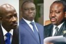 De gauche à droite : Charles Blé Goudé, Kouadio Konan Bertin, Guillaume Soro et Mamadou Touré.