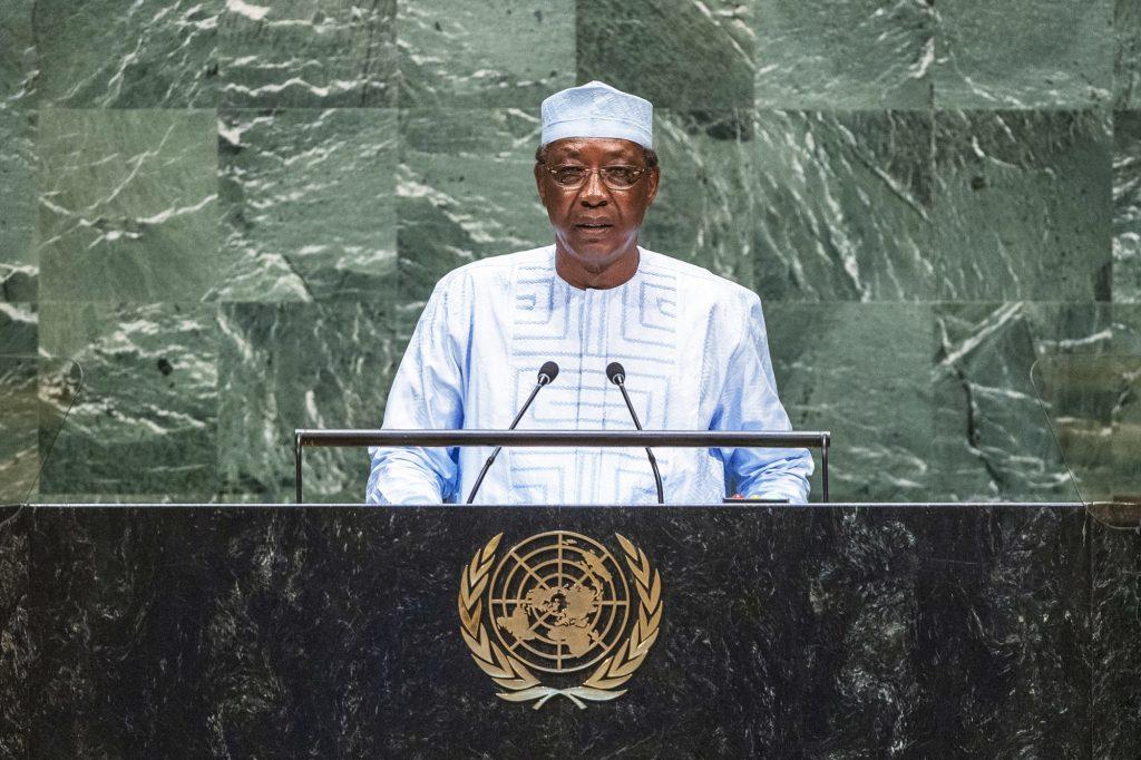 Le chef de l'État tchadien (ici à New York, le 25septembre) plaide pour que le mandat de la Minusma soit plus offensif.