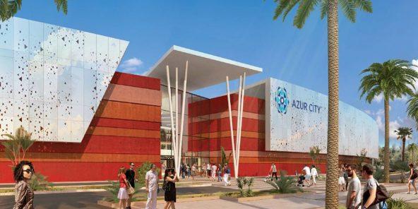 Azur City, dont l'ouverture est prévu le 21 novembre 2019, se veut le premier centre commercial nouvelle génération du pays.