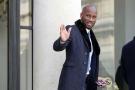 Le joueur de football Didier Drogba arrive à l'Elysée pour rencontrer le président Emmanuel Macron, le 21 février 2018.