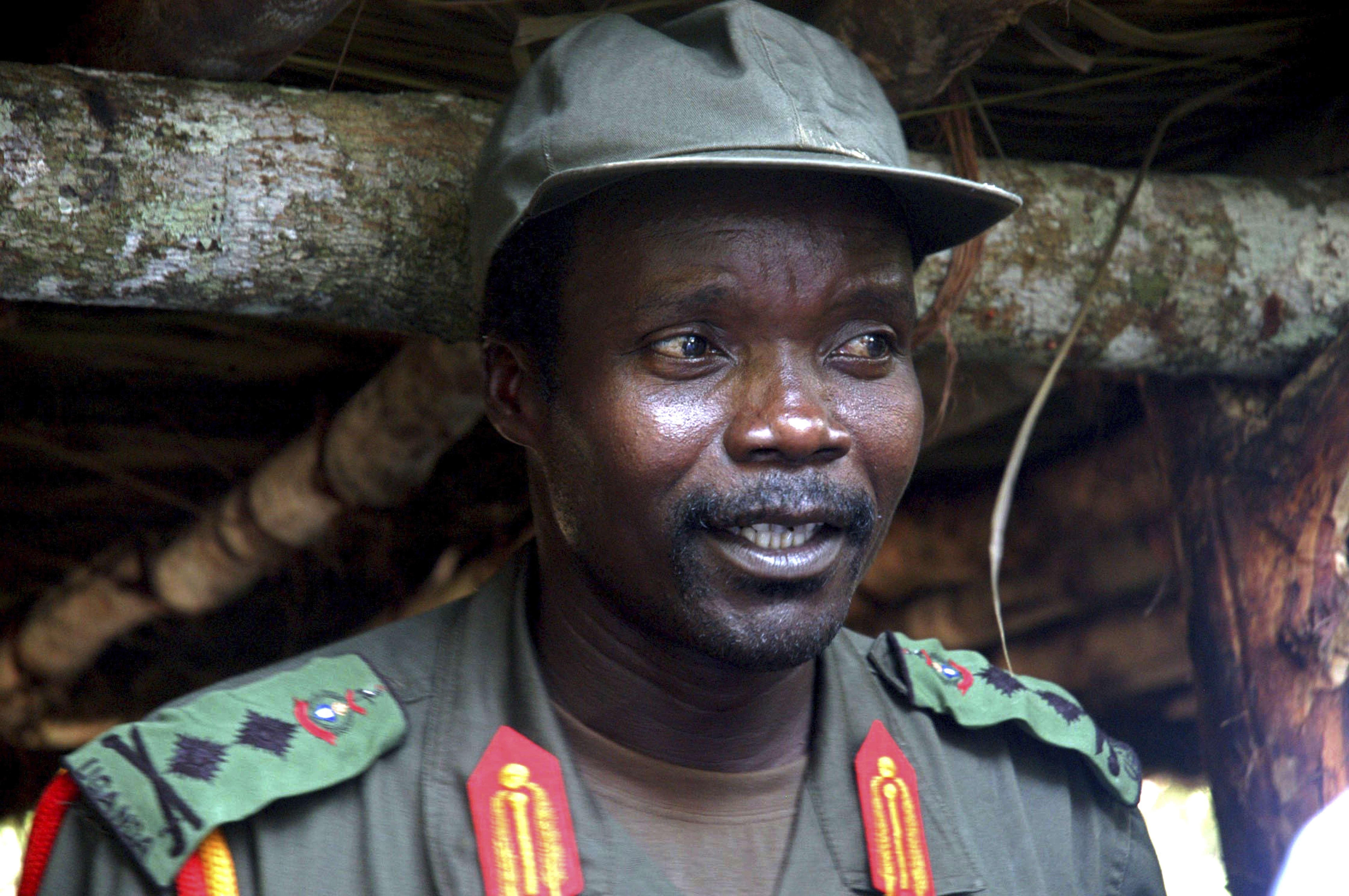 Le chef de guerre Joseph Kony, le 31 juillet 2006.