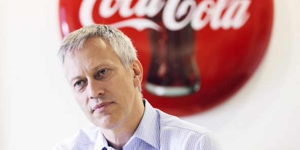 April 27, 2017 - Georgia, USA - James Quincey, the new CEO of Coke, poses for a portrait on April 27, 2017 in his office in Atlanta. (Credit Image: © Bob Andres/TNS via ZUMA Wire)