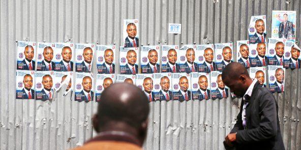 Affiches de campagne, en décembre2018. « Kabila lui a maintenu sa confiance parce qu'il sait que Ramazani n'est pas le seul responsable de l'échec», analyse un membre du PPRD.