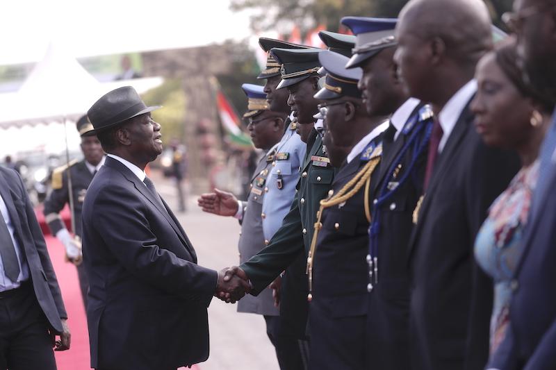 Alassane Ouattara à Katiola, dans la région du Hambol, le 27 novembre 2019.