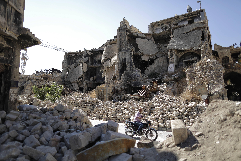 Située dans le Nord-Ouest du pays, la ville d'Alep a été ravagée par le conflit syrien, débuté en mars 2011.
