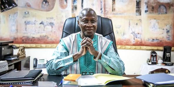 Dans son bureau, à Ouagadougou, le 2décembre.