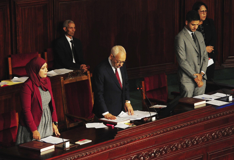 Rached Ghannouchi lors de la séance d'ouverture du nouveau parlement, le 13 novembre 2019 à Tunis.