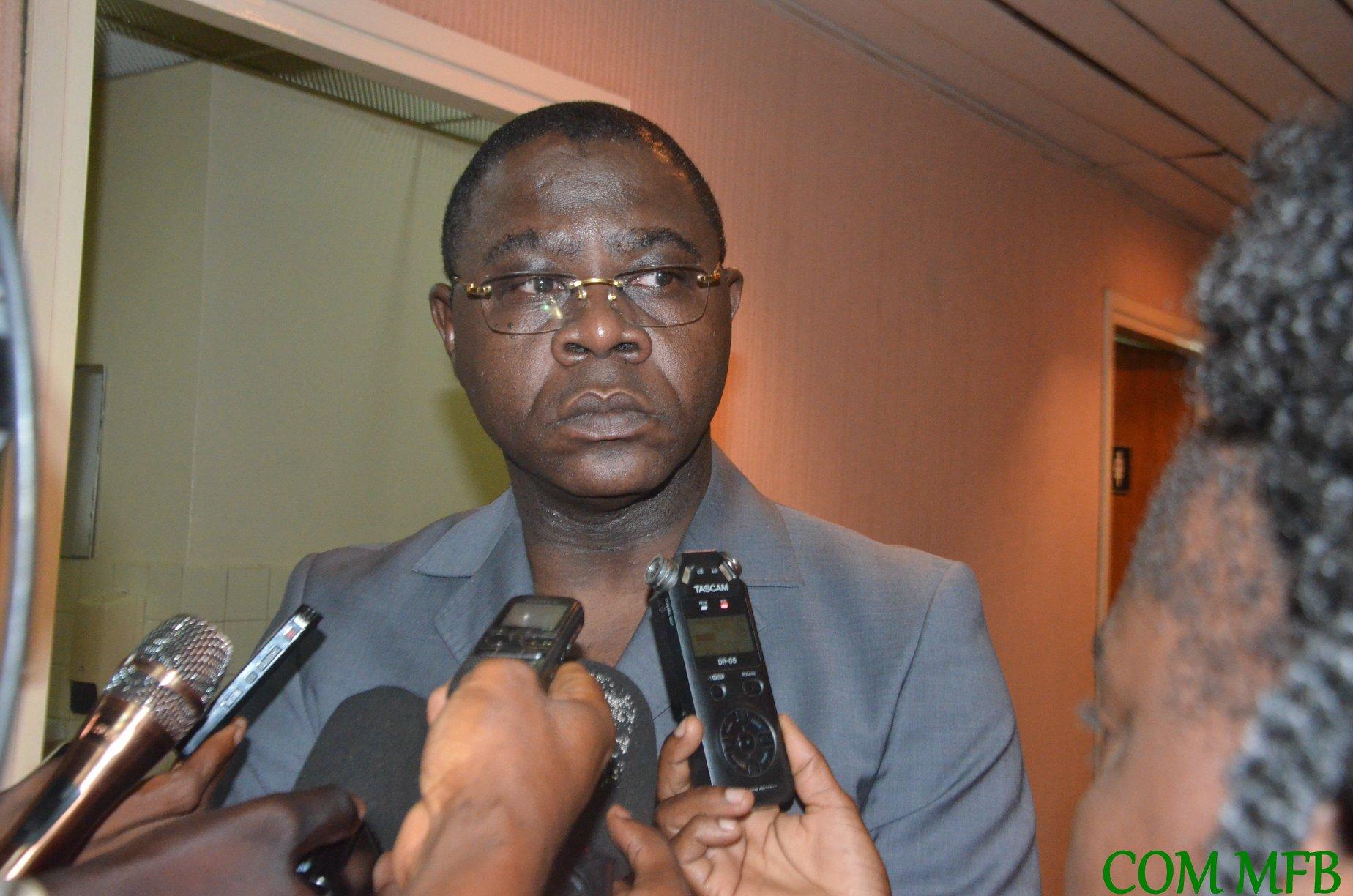 Henri-Marie Dondra, le ministre centrafricain des Finances, en novembre 2019 à Bangui.
