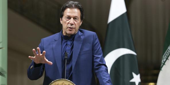 Прем'єр-міністр Пакистану Імран Хан 13 жовтня 2019 року в Тегерані (зображення зображення).