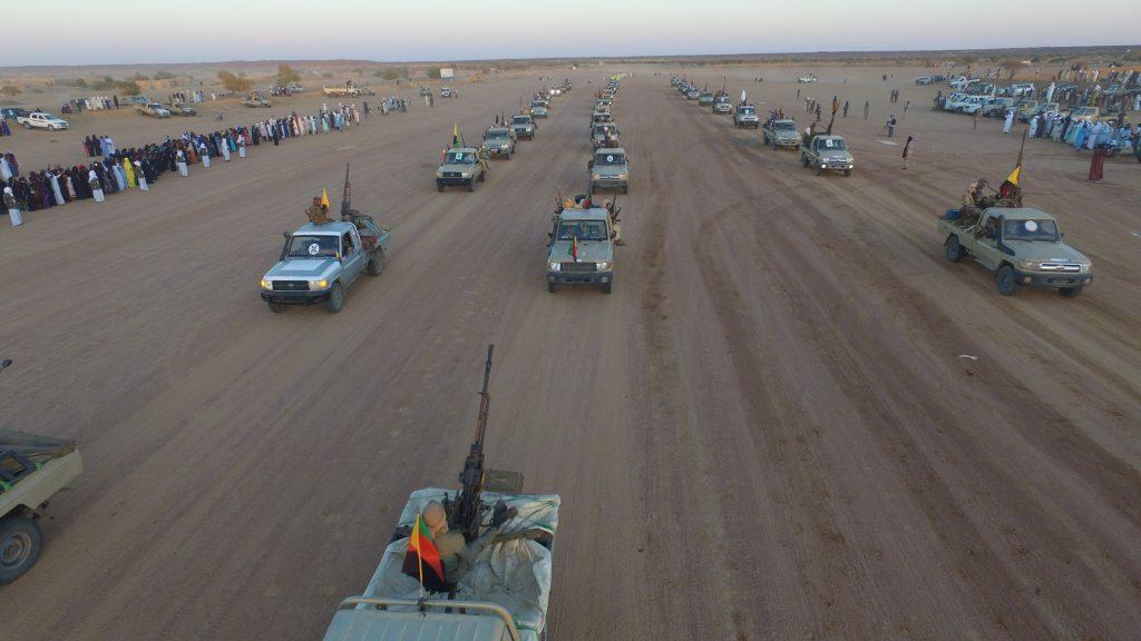 Lors du défilé militaire du MNLA à Kidal, le 2 décembre 2019.