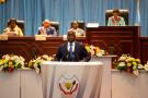 Félix Tshisekedi, lors du discours sur l'état de la nation devant le Parlement, le 13 décembre 2019 à Kinshasa.