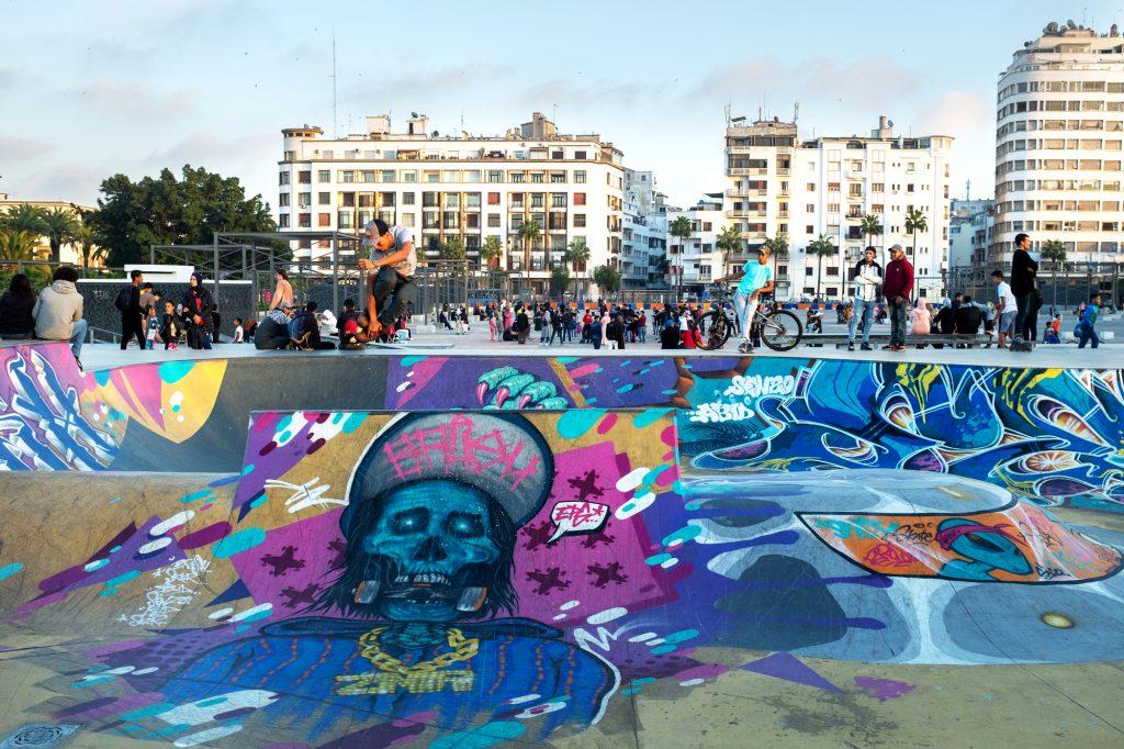 Le skatepark de la placeRachidi, le 8décembre.